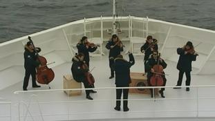 Rehearsal for Titanic memorial service
