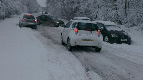 Road problems in Wrexham this morning