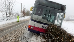 A bus came off the road near Killearn in Stirlingshire but nobody was injured.
