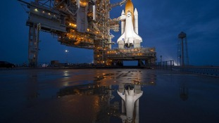 Space shuttle Atlantis before launch last year.