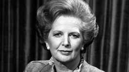 The then-Prime Minister Margaret Thatcher pictured in April 1982.