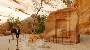 President Obama shown around Petra by Suleiman al-Farajat, a tourism professor at the University of Jordan