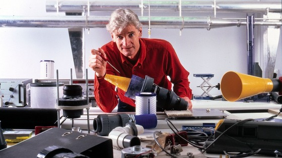 James Dyson in workshop
