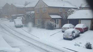 George Hedley sent this picture from Northampton