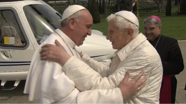 2 popes meet for lunch