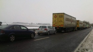 Lorries on the A75