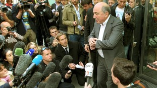 Berezovsky addresses the media as he leaves the High Court in August 2012.