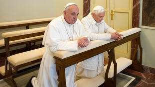 Pope Francis and his predecessor Pope Emeritus Benedict XVII prayed together.