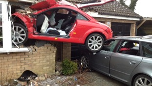Audi TT embedded in house