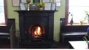 A traditional fire kept passengers warm - just like in the old days