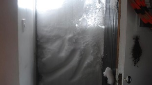 Snow drifts in Creetown