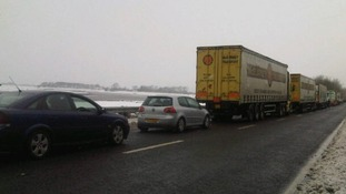 Traffic on the A75