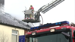 Firefighters in Magpie Road, Norwich