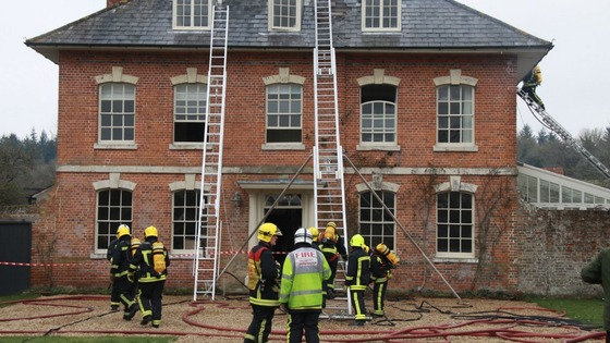 Blaze at period property