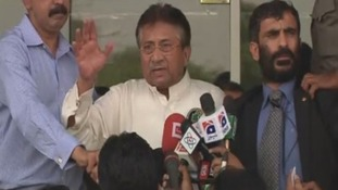 Former Pakistan president Pervez Musharraf has returned to Karachi, Pakistan.