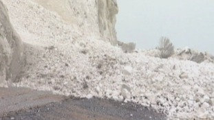 The big pile up of rubble in Dover today.