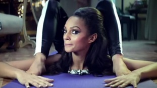 Alesha Dixon appears as a contortionist in the video.