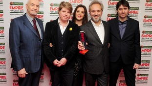 Skyfall wins Best Film at the Empire Film Awards, picked up by Michael Wilson, Rob Wade, Barbara Broccoli, Sam Mendes and Neal Purvis.