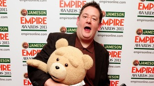 Presenter Jonny Vegas with Ted.
