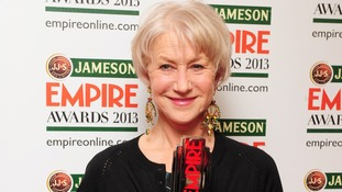 Dame Helen Mirren wins the Empire Legend award.