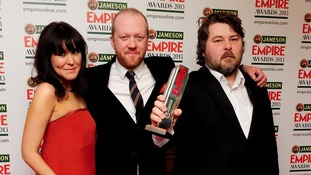 Nira Park, Steve Oram and Ben Wheatley who won the Best British Film award.