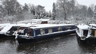 A canal boat in Lapworth, Warwickshire.