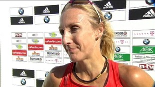 Paula Radcliffe was beaten by Haile Gebrselassie in a half-marathon in Vienna today