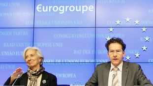 IMF executive director Christine Lagarde with Jeroen Dijsselbloem