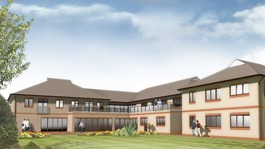 Artists' impression of extension at Francis House children's hospice.