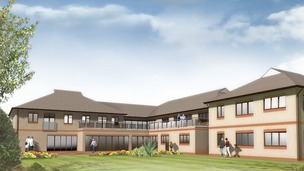 Artists&#x27; impression of extension at Francis House children&#x27;s hospice.