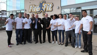 Mayor Joe Anderson with youth ambassadors at Toxteth Fire Fit Hub.