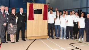 The opening of the £5.2m sports centre and community fire station in Toxteth, Liverpool.