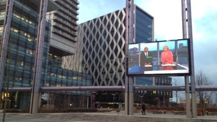 Granada Reports broadcasts from Media City