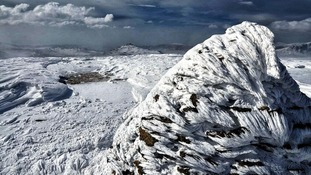 The cairn above Black Crag in the Lake District