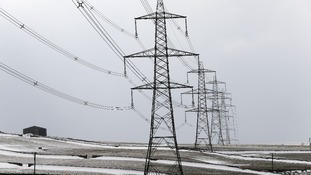Snow freezing to the electricity cables puts too much weight on the pylons, causing blackouts