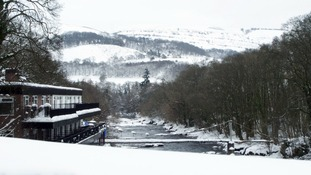 Snow around Llangollen