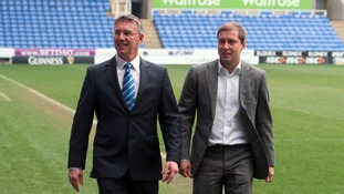 New Reading manager Nigel Adkins with club owner Anton Zingarevich