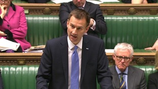 Jeremy Hunt addressing the Commons
