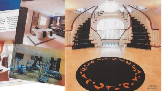 The feature showed the inside of the couple's home, which featured an indoor gym and swimming pool.