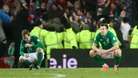 Republic of Ireland&#x27;s Glenn Whelan and Sean St Ledger sit dejected after defeat to Austria