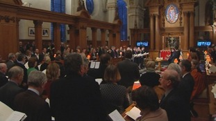 Friends, family and colleagues have gathered at a memorial service for Terry Lloyd, Frederic Nerac, Hussein Osman and Gaby Rado in London