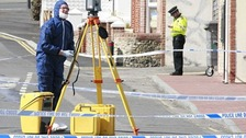 Police forensic officers