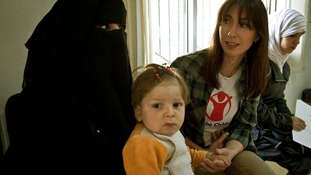 Samantha Cameron meets mother Farah and her disabled son Ali