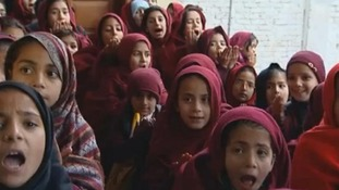 Girls attend school in Malala's home town of Mingora