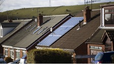 A house in Stalybridge, Manchester with solar panels installed on the roof