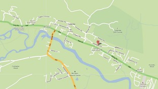 The location of the house explosion in Callander, Stirling