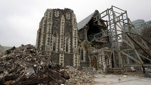 The cathedral was destroyed last year during the earthquake in December, and the aftershocks.