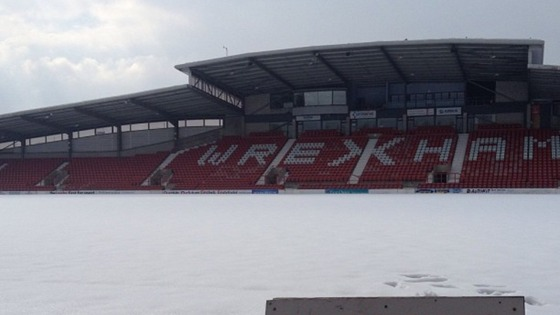 Racecourse pitch under snow