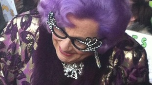 Dame Edna Everage meeting fans