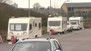 Sports ground closed after travellers illegally set up camp in car park